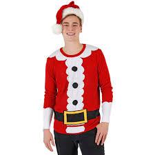 santa costume suit sweater