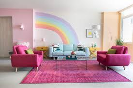 mr kate diy rainbow mural wall share