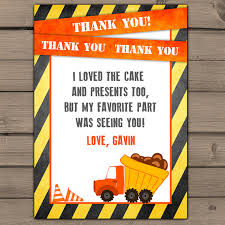 10 thank you cards construction thank you card with photo thank