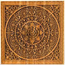 mandala wood carving home decor wood wall