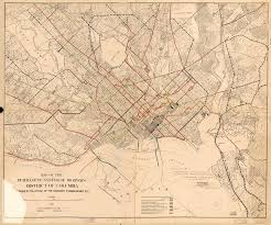 Map Of Columbia Streetcar System Map And Proposed Extensions In 1912 Ghosts Of Dc
