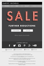 harvey nichols sale email design gif animated lights