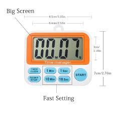 aimila digital countdown kitchen timer with alarm clock large led