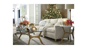 White Glass Coffee Table Elke Rectangular Glass Coffee Table With Brass Base Crate And Barrel