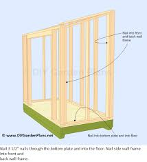 How To Build A Shed From Scratch by How To Frame A Shed Roof How To Build The Lean To Shed Side Wall