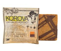 edible cannabis fifty one fifty bar 500mg thc korova edibles