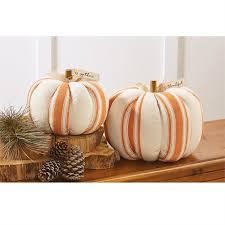 grainsack decorative pumpkin table sitter mud pie