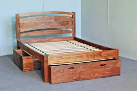 wood bed frame with drawers solid wood platform bed frame with drawers home decorations insight