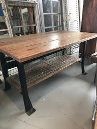 wood table with metal legs large wood table with black metal legs antiquities barn