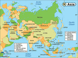 map of aisa political map of asia major tourist attractions maps