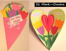 s day cards for school sunday school craft s day cards made out of a large heart