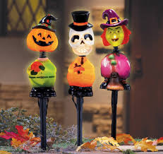 lawn stakes for lights halloween yard decoration lights home designing
