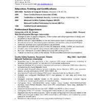 Best Network Administrator Resume by Best Network Administrator Resume For Information Technology And