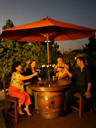 patio table heaters propane glen u0027s wine barrel tables vintage wine barrel furniture
