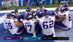 vikings the thanksgiving td celebration
