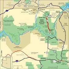 americas byways kaibab plateau north rim parkway map america s byways grand