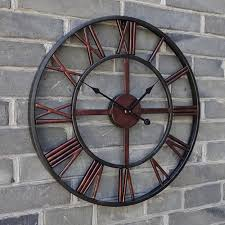 le bureau bordeaux bro horloge vintage rond mural silencieuse ø47cm design bordeaux en