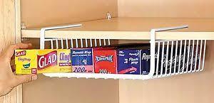Under Table Cabinet Lightweight White Kitchen Under Shelf Storage Basket Unit Under