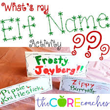 create a new elf name on elf day lessons and activities to keep