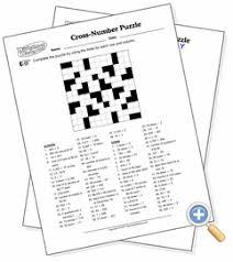 cross number puzzle worksheetworks com