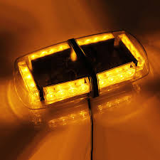 warning light bar amber koolertron led strobe amber emergency warning mini strobe light bar