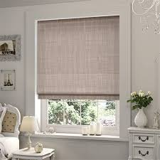 Roman Shades Over Wood Blinds Cocoa Roman Blind