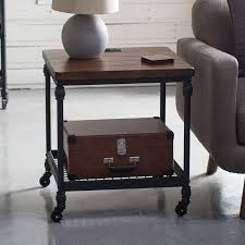end table with outlet belham living archer industrial end table with power outlet