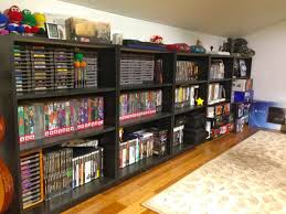 clean video game shelves via reddit user truond gaming and video