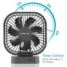 battery operated fan with timer opolar battery operated desk fan with large capacity of 5200mah 3