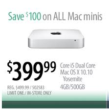 mac mini best buy 3 24 15 mac mini with i5 for 399 price match at best buy