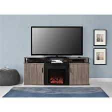 altra furniture tv stands living room furniture the home depot carson black and sonoma oak entertainment center