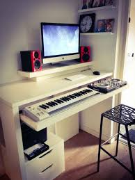 home studio bureau workstation desk ikea creative desk decoration