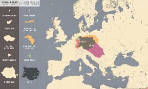 Map Size Comparison Size Of Territory Comparison Syria Iraq With Europe Syriancivilwar