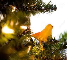 tree bird ornaments lights decoration