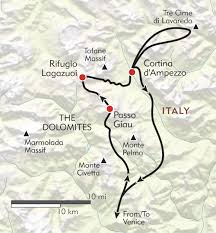 Map Of Portofino Italy by Hiking In The Cortina Dolomites Itinerary U0026 Map Wilderness Travel
