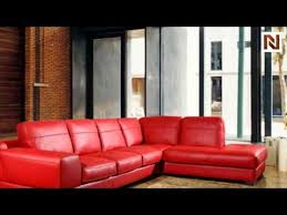 bella italia leather 260 sectional sofa in red vgbi260 16 youtube