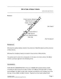 bill of sale canada legal templates agreements contracts