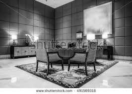 Luxury Reception Desk Reception Desk Luxury Lobby Interiorwith Crystal Stock Photo