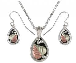 black necklace sets images Black hills gold sterling silver jewelry sets boomer style png