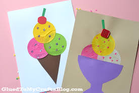 cupcake liner ice cream kid craft