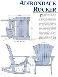 Composite Adirondack Rocking Chairs Adirondack Rocking Chair Plans Make A Muskoka Rocking Chair From