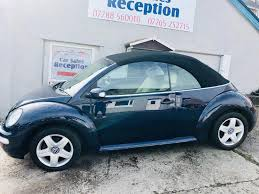 blue volkswagen beetle for sale volkswagen beetle convertible 1 6 petrol fsh low miles 2295 in