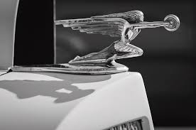 1937 packard 2 door touring ornament 0726bw photograph by