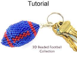 3d beaded football earrings necklace key chain christmas ornament