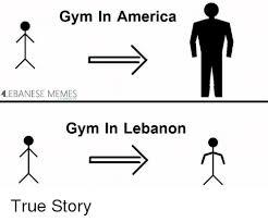Lebanese Meme - gym in america lebanese memes gym in lebanon true story america