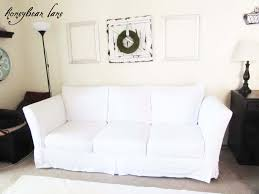 No Sew Slipcover For Sofa by How To Make A Couch Slipcover Part 1
