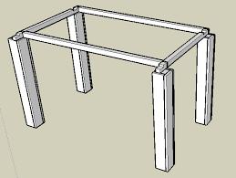 pied de bureau bois fixation de pied de table forum décoration mobilier système d