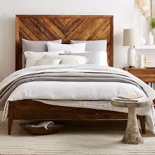 West Elm Headboard Brown Bed