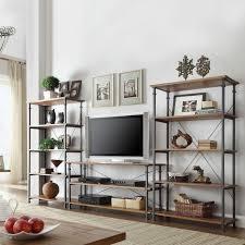 Rustic Wood Bookshelves by Distressed White Bookshelf Indoor Outdoor Metal Bakers Rack Plant