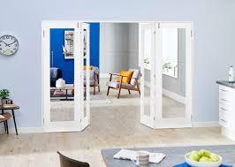 shaker glazed white frenchfold room divider doors climadoor